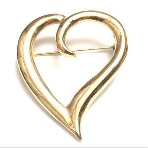 Open Heart Brooch 🌻4/$10 Vintage Pin